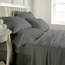 THREAD TREASURE's COMPLETE GREY SOLID BEDDING COLLECTION 1000TC 100% COTTON - 7