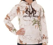 Women's Realtree Xtra Mossy Oak Camo Snow Performance Pullover Fleece Hoodie NWT