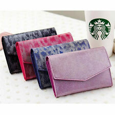 Women Lady Patent Leather Envelope Wallet Bag Case Clutch Card Holder Purse #B9