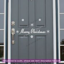 Christmas Door Sign Vinyl Wall Sticker snowflake Xmas Shop Window Decor Decal