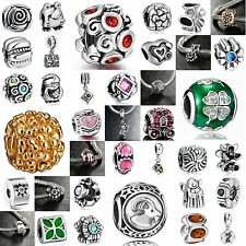 Hot Silver Charm European Beads Pendant Fit sterling 925 Bracelet Necklace Chain