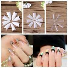 500Pcs Fashion False Nail Tips Natural Acrylic UV Gel French Nail DIY Art Tools