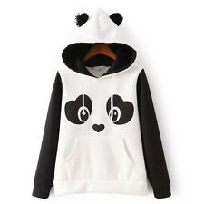 US Vintage Women's Warm Panda Fleece Pullover Hoodie Sweatshirts Coat Sweater