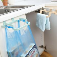 Kitchen Portable Trash Storage Cupboard Hanging Bag Can Rack Garbage Pouch Rack