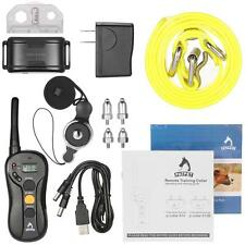 Rechargeable Waterproof Electric Shock Vibra Remote Dog Pet Training Collar K7H2