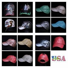 Men's Women Vintage PU Faux Leather Baseball Cap Hats Casual Fashion Hat Caps