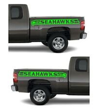 2 Seattle Seahawks Banner Decals 1 left & 1 right your choice of color and size!