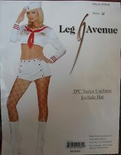 NEW VINTAGE LOOK WHITE RED SAILOR HAT CROP TOP SHORTS COSTUME S M L 8 10 12