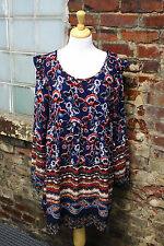 WOMENS HAYDEN NAVY BLUE FLORAL PRINT DRESS SMALL NWTS