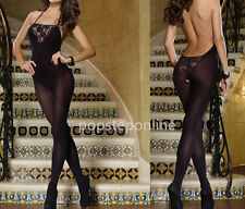 New sexy nightwear open crotch body stocking lingerie fishnet bodysuit