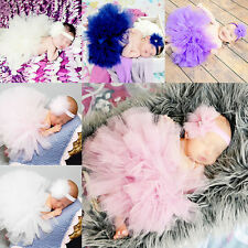 Lovely Toddler Newborn Baby Girl Tutu Skirt & Headband Photo Prop Costume Outfit
