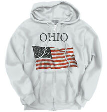 Ohio Patriotic Home State American USA T Shirt Flag Gift Pride Zipper Hoodie