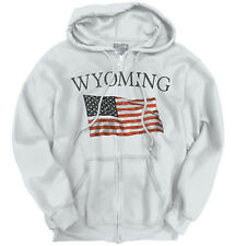 Wyoming Patriotic Home State American USA T Shirt Flag Gift Zipper Hoodie