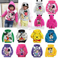 Kids Boys Girls Mickey Minnie Hoodies Sweatshirt Coat Long Sleeve Casual Outwear
