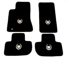 Cadillac CTS Carpet Floor Mats 4pc - Logo on all - 2003-2017 Black Gray Beige