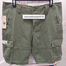 NWT DENIM & SUPPLY RALPH LAUREN MENS CHINO CARGO SHORTS OLIVE SIZE 33/38