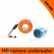 "7"" Screen 15/30m Fish Finder Underwater Fishing Camera Monitor 800TVL Brand X6R2"