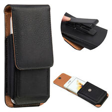 Vertical Carrying Leather Pouch Case Cover With Belt Clip Holster for Cell Phone