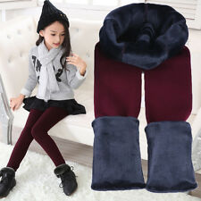 Winter Warm Pants Thick Leggings Trousers High Waist for Children Girls Kids