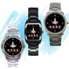 NEW Wrist Watch Stainless Galaga classic nes game collection