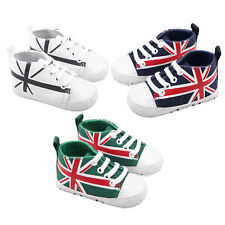 One Pair Baby Toddle New Shoes Flag Print Newborn Kids Soft Bottom Shoes F5