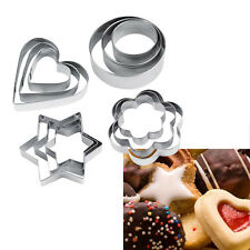 3PCS Stainless Steel Cookie Biscuit Cutter Mold Cake Fondant Baking Pastry Tools
