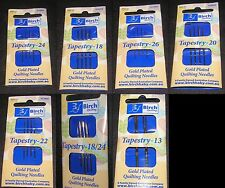 Tapestry Needles Pick Size 18 22 24 26 Gold Plated Cross Long Stitch Embroidery