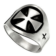 TAXCO 925 MEDIEVAL CRUSADE STYLE RING | Mexico Sterling Silver