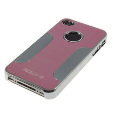 Luxury Brushed Metal Surface&Plastic Plating Hard Case Cover For iPhone 4G 4S TG