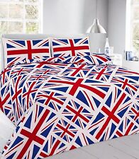 UNION jack RED Duvet Cover with Pillow Case Quilt Cover Bedding Set