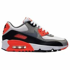 Nike Air Max 90 Leather Grey White Youths Trainers