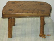 "VINTAGE FOLK ART STOOL PRIMITIVE FARM MILKING BENCH w/ 11"" wide pine board"