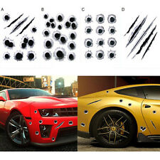 Waterproof  Vinyl Auto Styling 3D Fake Bullet Hole Home Wall Decals Car Stickers