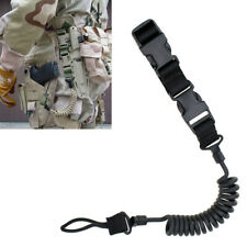 Heavy Duty Tactical Pistol Lanyard Airsoft Quick Release Secure Pistol Sling