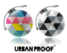 URBAN PROOF RETRO BICYCLE BELL, LOUD RING BIKE BELL,  2x PATTERN DESIGNS