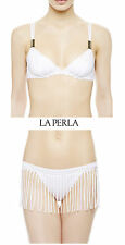 La Perla Southport White Triangle Bikini Top and Bottom Set - size 8