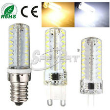 Dimmable G4 G9 E14 72 LED Corn Bulb Silicone Lamp Light 3014 SMD 110V/220V/12V