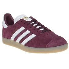 New Mens adidas Maroon Gazelle Suede Trainers Retro Lace Up