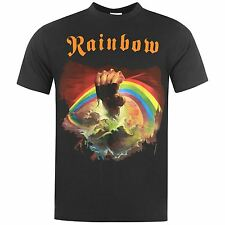 Official Mens Band Tee Rainbow T Shirt Short Sleeve Music Printed Top Crew Neck