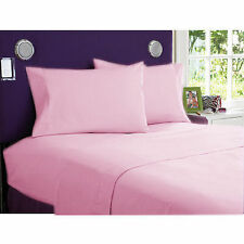 US-BEDDING COLLECTION 1000TC 100%EGYPTIAN COTTON PINK SOLID US TWIN SIZE