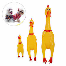 3 Sizes Screaming Rubber Yellow Chicken Pet Dog Puppy Toy Chew Squeaky Squeaker