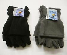 POLAR FLEECE MENS THINSULATE THERMAL INSULATE FINGERLESS GLOVES WITH CAP 1 SIZE