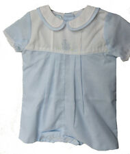 Petit Ami Shadow Embroidered Boys Blue Bunny Romper NWT Infant Sizes