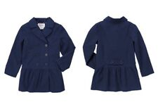 Gymboree NWT Uniform Shop Navy Blue Trench Coat Jacket Cotton Button Up - XS S
