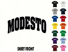 City Of Modesto College Letters T-Shirt #381 - Free Shipping