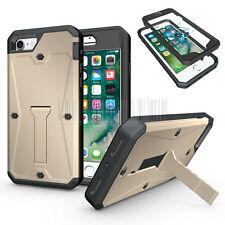 Heavy Duty Shockproof Hybrid Tank Armor Case Stand Cover For iPhone 7