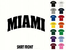 City Of Miami College Letters T-Shirt #390 - Free Shipping