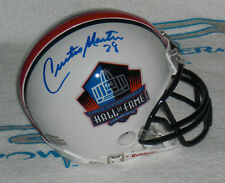 CURTIS MARTIN SIGNED HALL of FAME MINI HELMET - New York Jets - PITT Panthers