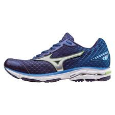 Mizuno Wave Rider 19 MENS RUNNING SHOES Medieval Blue Green Flash 100% AUTHENTIC