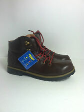 NEW $54 Boy's Sonoma Hiking/Trail Ankle Boots Sz. 4M Brown Red&Brown Laces